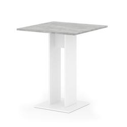 Vicco Säulen-Esstisch Esstisch EWERT Küchentisch Esszimmer Tisch Säulentisch weiß beton 65x65 cm