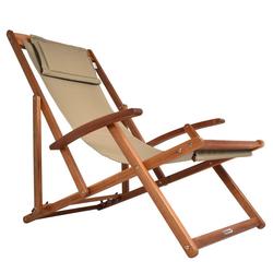 Deuba Gartenliege Klappbar Atmungsaktiv Sonnenliege Strandstuhl Gartenliege Relaxliege Beige natur