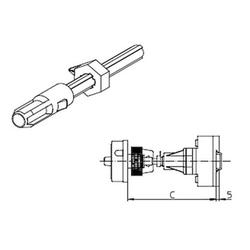 Sälzer AVA8-090 Metallachse 1St.