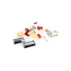 Klarstein Nudelmaschine Siena Rossa Pasta Maker Nudelmaschine 3 Aufsätze Edelstahl rot rot