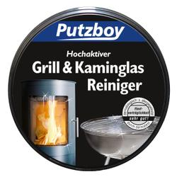 Putzboy Grill & Kaminglas Reiniger, Für alle Glasfenster und Kacheln an Öfen und Kaminen, 1 Putzstein