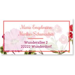 Hochzeitskartenset Hochzeitsblumen (10 Karten) selbst gestalten, Hochzeitsblumen - Rosa