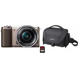 Sony Alpha ILCE-5100L Systemkamera (24,3 MP, NFC, WLAN (Wi-Fi), inkl. 16-50mm Objektiv) braun