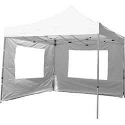 VCM PROFI Falt Pavillon Partyzelt mit zwei Seitenteilen 3x3m weiß wasserdichtes Dach