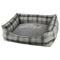 Nobby Hundebett Campo eckig grau, Maße: 75 x 60 x 23 cm