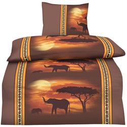 Bettwäsche Afrika, One Home, im orientalischen Afrika Look 2 St. x 135 cm x 200 cm
