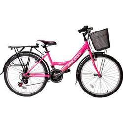 """24"""" Zoll Fahrrad City Bike Mädchen Fahrrad Kinderfahrrad 21 Gang RH ca.45 cm STVO... Roze"""