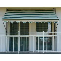 Angerer Freizeitmöbel Klemmmarkise, grün/beige, Ausfall: 150 cm, versch. Breiten grün Klemm-Markisen Markisen Garten Balkon Klemmmarkise
