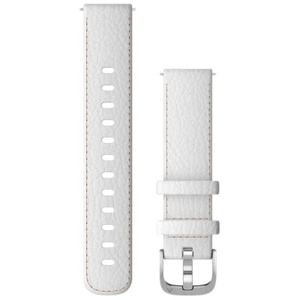 Schnellwechsel-Armbänder (18 mm) Weißes Leder mit silbernen Teilen