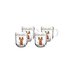 LEONARDO Tasse RUDOLF Weihnachts Tasse 300 ml Elch 4er Set (4-tlg)