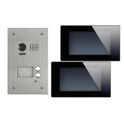 DT603+ 2x DT47M-B Video Türsprechanlage Klingelanlage Kamera 2-Familienhaus Unterputz