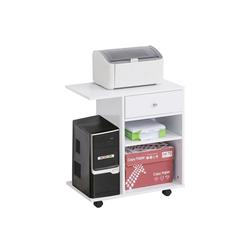 Vinsetto Rollcontainer Mobile Büroschrank weiß