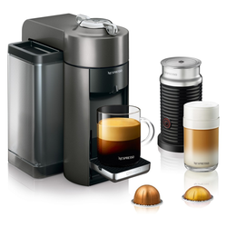 Nespresso Vertuo Coffee and Espresso Machine with Aeroccino Titan by De'Longhi