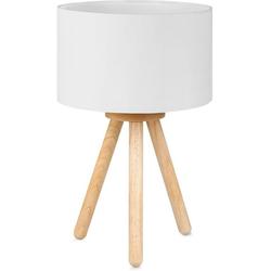 Tomons LED Nachttischlampe LED Nachttischlampe aus Holz mit 4W LED weiß