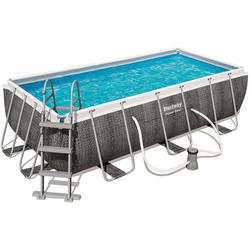 Bestway Pool Set Power Steel Deluxe 404 x 201 x 100 cm, inkl. Filterpumpe
