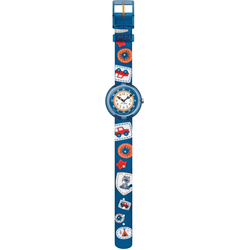 Flik Flak CAMPING BADGE BLUE FBNP094 Kinderuhr