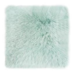 Kissen Schaffell grün(BL 40x40 cm)