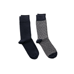 Gant Kurzsocken Herren Socken, 2er Pack - Solid and Dot Socks,One bunt