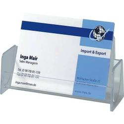 Visitenkarten-Aufsteller glasklar Hartplastik für Karten bis zu 97mm Breite