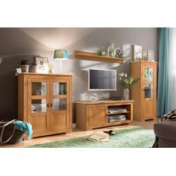 Home affaire Wohnwand Laura, (Set, 3-tlg), mit 1 Vitrine, 1 TV-Lowboard und 1 Highboard beige