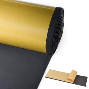 50 x 50 cm, Stärke 10 mm, Neoprenfolie, selbstklebend, Stärke 10 mm, hergestellt aus Schaumstoff-Gummi, Foll Neop®, selbstklebende Scheibe aus Neopren, ohne Blätter