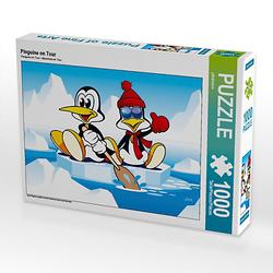 Pinguine on Tour Lege-Größe 64 x 48 cm Foto-Puzzle Bild von jokatoons Puzzle
