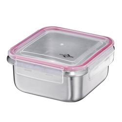 KÜCHENPROFI Lunchbox Brotdose aus Edelstahl 15,5 x 15,5 cm 1,0 Liter