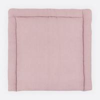KraftKids Wickelauflage Waffel Piqué rosa, Wickelunterlage 85x75 cm (BxT), Wickelkissen