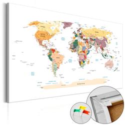 Tablica korkowa Mapa świata