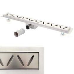 Duschrinne MCW-D94c, Bodenablauf Abflussrinne Duschablauf, Edelstahl Siphon 50-120cm ~ 60cm