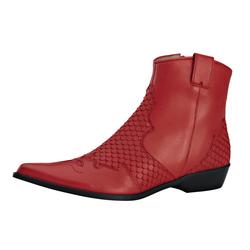 Stiefelette im Cowboy-Stil rot 39