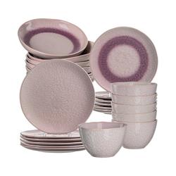 """LEONARDO Kindergeschirr-Set 24-tlg. Keramik Set """"MATERA"""", sand rosa"""