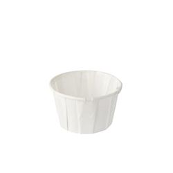 Papstar Pure Dressingbecher Papier, rund, Portionsbecher aus Papier, 1 Packung = 250 Stück, 60 ml