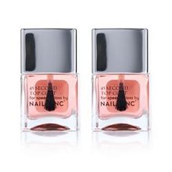 NAILS.INC® Nagellack-Duo Retinol 45 Sekunden Topcoat 2x 14ml