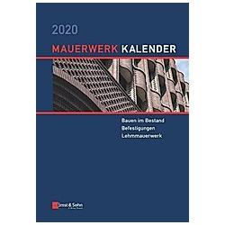Mauerwerk-Kalender: Mauerwerk-Kalender 2020 - Buch