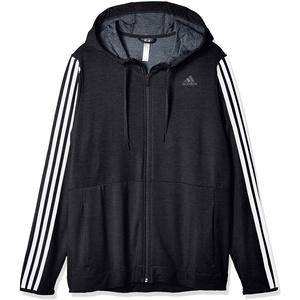 adidas Damen 3-Streifen Kapuzenjacke, Black/White, M