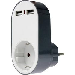 As - Schwabe 18211 USB-Ladegerät Steckdose 2 x