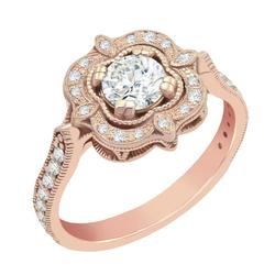 Verlobungsring im Vintage-Stil aus Gold mit Diamanten Lomenie