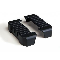 Kicker Kicker lackierbare Endcaps aus ABS für ZX Verstärker Vollverstärker