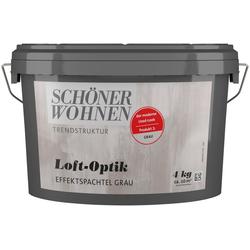SCHÖNER WOHNEN FARBE Spachtelmasse Loft-Optik Effektspachtel grau, 4 kg grau