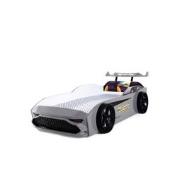 Möbel-Lux Kinderbett GT18, Kinderbett Autobett GT18 Turbo 4x4 mit Spoiler grau