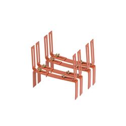BigDean Wandhalter Blumenkastenhalter Standard H−Form Kasten Halter Balkonkastenhalter, 2-St. braun