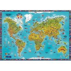 MARCO POLO Panorama Kinderweltkarte plano 1:0