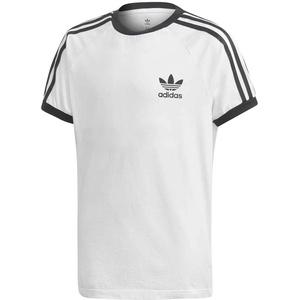 adidas Unisex Kinder 3stripes Tee T Shirt, Weiß Schwarz, 14 Jahre EU