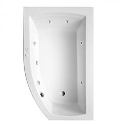 Ottofond Raumspar Badewanne Cedros links mit Whirlpoolsystem VIsion Weiß 170 x 98 x 45 cm