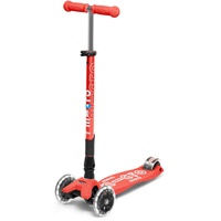 Micro Mobility Maxi Micro Deluxe Foldable LED bright coral