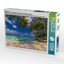 Malediven - Traumhaftes Paradies im Indischen Ozean Lege-Größe 64 x 48 cm Foto-Puzzle Bild von Elly Heuvers Puzzle