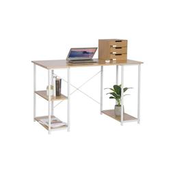 Woltu Schreibtisch, Schreibtisch mit Bücherregalen Modell Jason