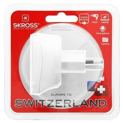 SKROSS Adapter Steckdose Europa auf Schweiz, Country Ada Akku-Ladestation