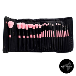 Shelas Schmink-Pinsel Set Rosa 22 Stk.